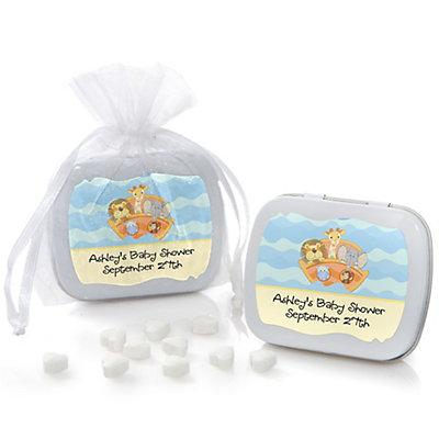 noahs ark mint tin personalized baby