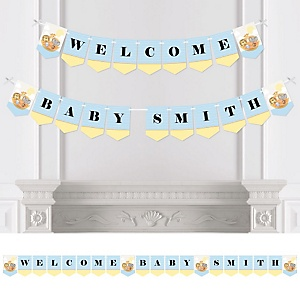 Noah's Ark - Personalized Baby Shower Bunting Banner & Decorations