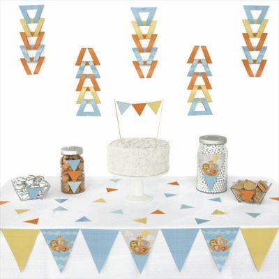 Noahu0027s Ark   72 Piece Triangle Baby Shower Decoration Kit