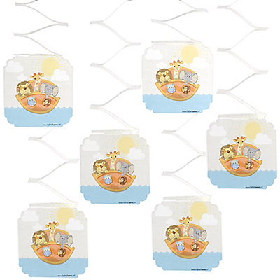 noah 39 s ark baby shower hanging decorations 6 ct