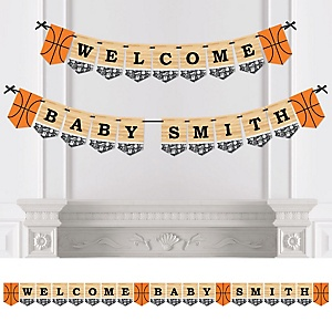 Nothin' But Net - Basketball - Personalized Baby Shower Bunting Banner