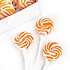 Orange Swirl Lollipops - Baby Shower Candy - 24 ct