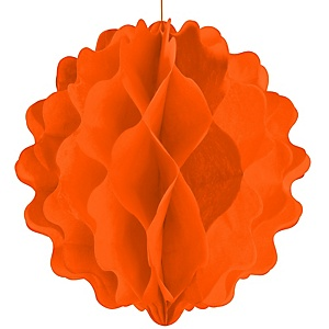 Orange Honeycomb Ball - Baby Shower Decorations