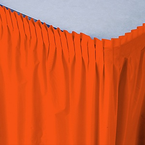 Orange - Baby Shower Table Skirt