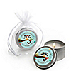 Owl - Look Whooo's Having A Baby - Personalized Baby Shower Candle Tin Favors