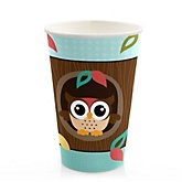 Owl - Look Whooo's Having A Baby - Baby Shower Hot/Cold Cups - 8 Pack