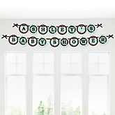 Owl - Look Whooo's Having A Baby - Personalized Baby Shower Garland Banner