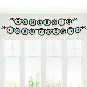 Owl - Look Whooo's Having A Baby - Personalized Baby Shower Garland Letter Banners