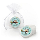 Owl - Look Whooo's Having A Baby - Personalized Baby Shower Lip Balm Favors