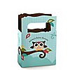 Owl - Look Whooo's Having A Baby - Personalized Baby Shower Mini Favor Boxes