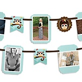Owl - Look Whooo's Having A Baby - Baby Shower Photo Bunting Banner