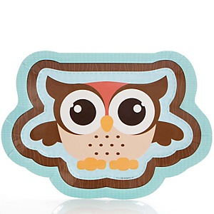 Owl - Look Whooo's Having A Baby - Baby Shower Dinner Plates - 8 ct