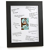 Owl - Look Whooo's Having A Baby - Personalized Baby Shower Print with Signature Mat