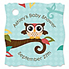 Owl - Look Whooo's Having A Baby - Personalized Baby Shower Tags - 20 ct