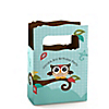 Owl - Look Whooo's Having A Birthday - Personalized Birthday Party Mini Favor Boxes
