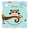 Owl - Look Whooo's Having A Birthday - Personalized Birthday Party Tags - 20 ct