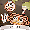 Owl Girl - Look Whooo's Having A Birthday - 8 Person Birthday Party Kit