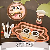 Owl Girl - Look Whooo's Having A Baby - 8 Person Baby Shower Kit