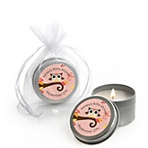 Owl Girl - Look Whooo's Having A Baby - Candle Tin Personalized Baby Shower Favors