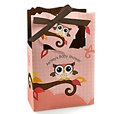 Owl Girl - Look Whooo's Having A Baby  - Personalized Baby Shower Favor Boxes