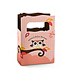 Owl Girl - Look Whooo's Having A Baby - Personalized Baby Shower Mini Favor Boxes