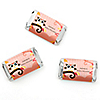 Owl Girl - Look Whooo's Having A Baby - Personalized Baby Shower Mini Candy Bar Wrapper Favors - 20 ct