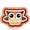 Owl Girl - Look Whooo's Having A Baby - Baby Shower Dinner Plates - 8 ct