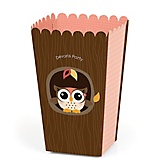 Owl Girl - Look Whooo's Having A Party - Personalized Party Popcorn Favor Boxes