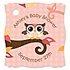 Owl Girl - Look Whooo's Having A Baby - Personalized Baby Shower Tags - 20 ct