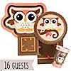 Owl Girl - Look Whooo's Having A Birthday - Birthday Party 16 Big Dot Bundle