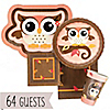Owl Girl - Look Whooo's Having A Birthday - Birthday Party 64 Big Dot Bundle