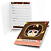 Owl Girl - Look Whooo's Having A Birthday - Birthday Party Fill In Invitations - 8 ct