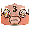 Owl Girl - Look Whooo's Having A Birthday - Personalized Birthday Party Hats - 8 ct