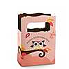 Owl Girl - Look Whooo's Having A Birthday - Personalized Birthday Party Mini Favor Boxes