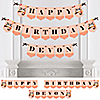 Owl Girl - Look Whooo's Having A Birthday - Personalized Birthday Party Bunting Banner