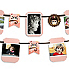 Owl Girl - Look Whooo's Having A Birthday - Birthday Party Photo Garland Banners