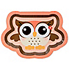 Owl Girl - Look Whooo's Having A Birthday - Birthday Party Dinner Plates - 8 ct