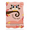 Owl Girl - Look Whooo's Having a Birthday - Personalized Birthday Party Thank You Cards
