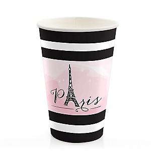 Paris, Ooh La La - Baby Shower Hot/Cold Cups - 8 ct