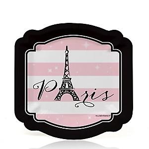 Paris, Ooh La La - Baby Shower Dessert Plates - 8 ct