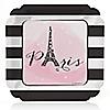 Paris, Ooh La La - Baby Shower Dinner Plates - 8 ct