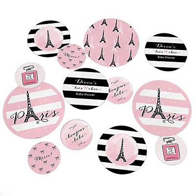 Paris, Ooh La La   Personalized Paris Themed Baby Shower Table Confetti    27 Ct