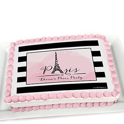 Paris Sheet Birthday Cake