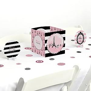 Paris, Ooh La La - Paris Themed Party Centerpiece & Table Decoration Kit