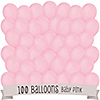 Pink - Baby Shower Latex Balloons - 100 ct