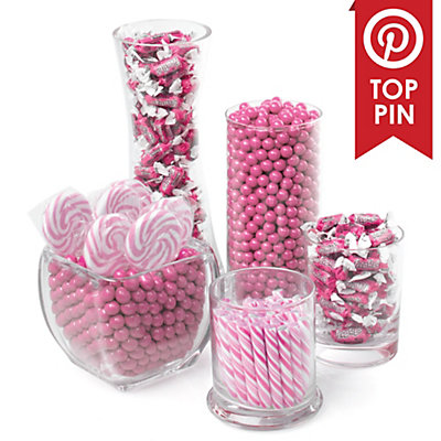 pink baby shower candy buffet kit