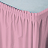 Pink - Baby Shower Plastic Table Skirts