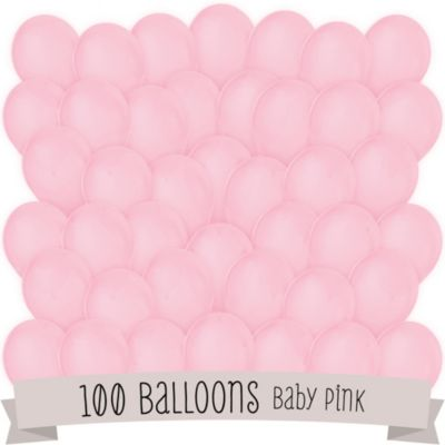 pink bridal shower latex balloons 100 ct