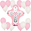 Pink Cross - Baptism Balloon Kit