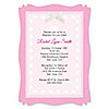 Delicate Pink Cross - Personalized Baptism Vellum Overlay Invitations